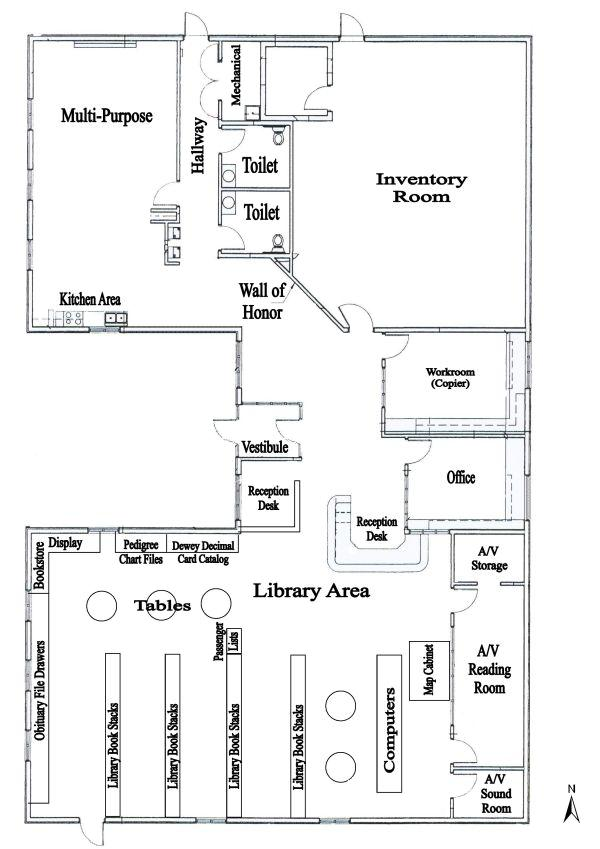 Floor Plan of Headquartrs graphic
